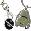 trolley coin key chain/ keyring