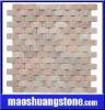 Pink marble mosaic tile