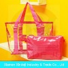 Fashion Non-toxic PVC Beach Bag With Handle