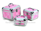 New Pink Makeup Train Case With 3 size for choose