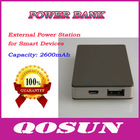 2500mAh portable usb power bank for Smart Devices