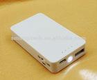 2000mAh Lithium-ion portable mobile power bank
