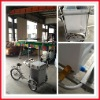 The latest design solar icecream freezer with tricycle, freezer, solar panel