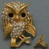 hot hip hop antique brass stretch owl ring