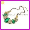 Antique Bronze Ethnic Chunky Bubble Necklace XL-073