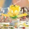 Happy birthday music candle
