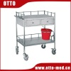 Stainless steel hospital treatment trolley