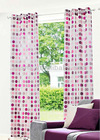EYELETS CURTAIN RED COLOR CURTAIN POLYESTER CURTAIN (EV-E001-VC)
