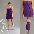 The fashionable newest purple bridesmaid dress