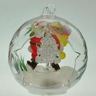 LED color changing glass ball for christmas gift