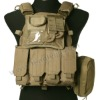 anti cut TAN Tactical Molle Vest with attached puches