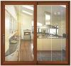 sliding glass door with blinds