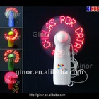 pocket led fan with message