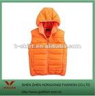 custom vest hot sell orange solid color hoodie cotton vest