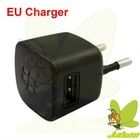 Black EU USB Wall Travel Charger For Blackberry 9800
