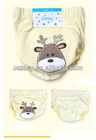 Pure cotton 3 layers waterproof TPU reusable cloth diapers with embroidered deer design reusable cloth diaper