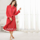 red home suite coral fleece bathrobe