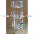 3 tier round merchandise bin