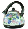 BLUE FLOWER ENAMEL ELECTRIC KETTLE 1.8L-TEA POT
