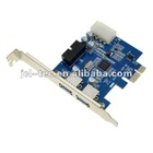 2 USB 3.0 downstream ports and 1 USB3.0 20-pin Connector with 4 pin IDE POEWER Connector