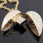 Luxury OEM Jewellry USB Flash Driver Heart Shape