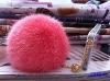 CDA010 cute real rabbit fur ball key pendant