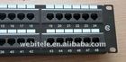 UTP Cat 5E 48 ports patch panel used for network cabinets and telecommunication