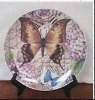 Hot sale! ceramic souvenir plate with beautiful butterfly