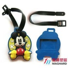 3d soft PVC bag rubber name Tag