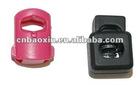 Heavy duty plastic cord stopper for garment