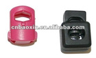 Heavy duty plastic cord stopper for garment