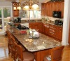 Assemble American Cherry Kitchen Cabinets with Big Island