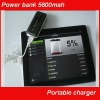 Portable blackberry charger with 5200mAh capacity and LED emergency light