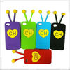 Top-Selling Heart shape silicone case for Apple Touch 5, P-iPODTCH5SC013