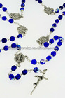Bead rosary necklace with crucifix pendant