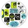 star round epoxy stickers