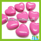 2012 new style smooth surface pink heart solid acrylic beads