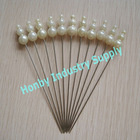 Ivory Tint Triple Gourd Pearl Head Pin