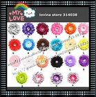 50set/lot Wholesale Girl Lace Hairbow Hairband Hair Band Band Headband -Satin Crochet Headband Baby Hair Bow D04