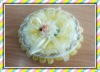 Oval Ceramic Jewelry Box With Small Flower