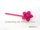 flower rose-carmine dye hair sticks
