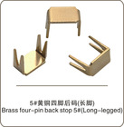brass four-pin parts for metal zipper,zipper accessory