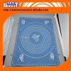 with scale mark blue stable small Silicone baking pattern mat 8467