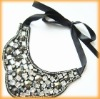 Garment Collar Necklace with Rhinestone and Sequins