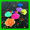 Factory cost flower crystal soil expand 600% of size assorted colors&style seven color crystal boll
