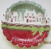 Christmas party plate, Friendly Round Paper Plate