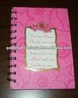 Customized Cute Pink Paper Spiral Notebook