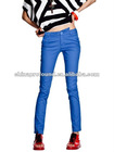 OEM bright color slim fit women trousers