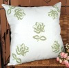 100% linen flower embroidery decorative Cushion Cover