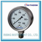 Stainless steel capsule low pressure gauge